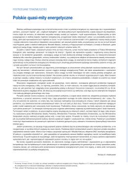 Polskie quasi-mity energetyczne