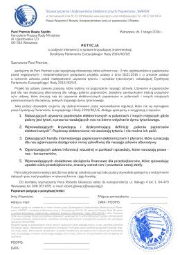 petycja waper - Stowarzyszenie Użytkowników Elektronicznych