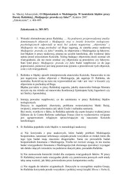 ks. Maciej Arkuszyński, O Objawieniach w Medziugorju. W