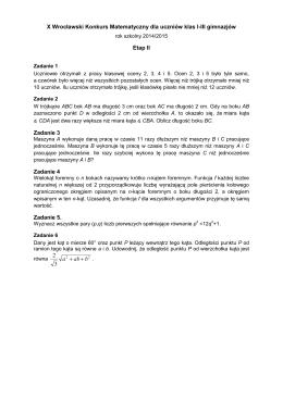 Zadania i rozwiązania etap 2