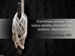 Piotr Krzywda, Teoria węzłów