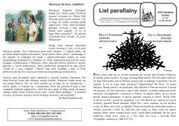 List parafialny - Parafia Wniebowzięcia NMP w Krapkowicach