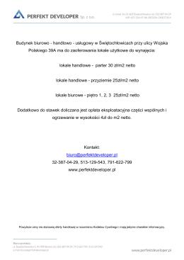 usługowy w Świętochłowicach przy ulicy Wojska