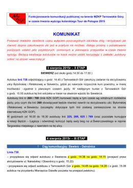 Komunikat MZKP - Tarnowskie Góry
