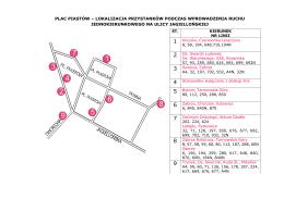 PLAC PIASTÓW –lokalizacja przystanków podczas wprowadzenia