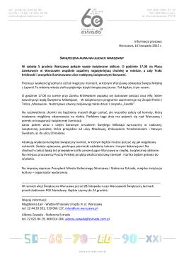 Świąteczna Iluminacja Warszawy_informacja prasowa
