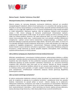 Mariusz Frączek – Dyrektor Techniczny z firmy Wolf Obowiązek