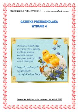 GAZETKA PRZEDSZKOLAKA wydanie 4