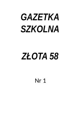 gazetka_nr_1 - CXIX LO im. Jacka Kuronia w Warszawie