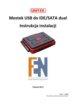 Mostek USB do IDE/SATA dual Instrukcja instalacji