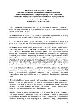 Wystąpienie Pani dr n. med. Anny Matejuk Opolskiego