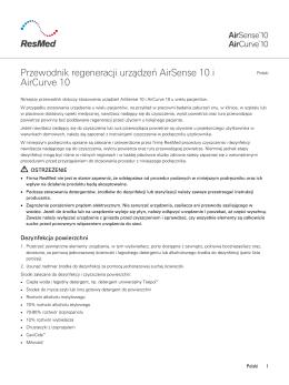 Przewodnik regeneracji urządzeń AirSense 10 i AirCurve 10