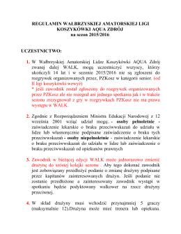 regulamin 2015/16