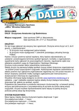 ORGANIZATOR - badminton.kolobrzeg.pl