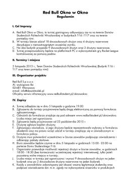 Regulamin RBOWO - Red Bull Student
