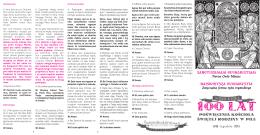Pobierz folderek z tekstami mszy w PDF