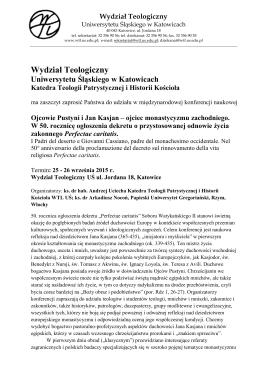Program konferencji - Wydział Teologiczny