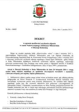 Dekret Biskupa Kieleckiego