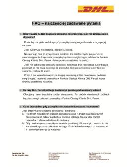 FAQ – najczęściej zadawane pytania - Przekieruj paczkę