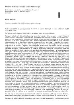 Bylak Mariusz - Fundacja Splotu Ramiennego