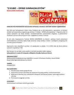 konkurs geograficzny – regulamin - Żorski Festiwal Podróży i Nauki