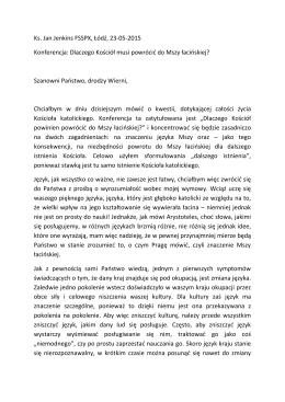 Ks. Jan Jenkins FSSPX, Łódź, 23-05