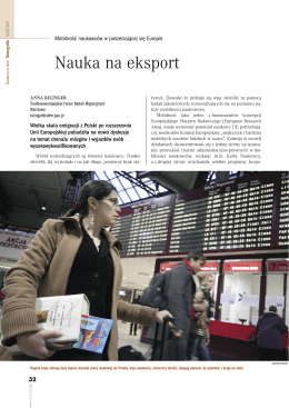 Nauka na eksport - Central European Forum for Migration and
