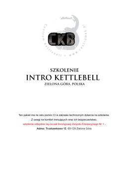 Pakiet startowy_INTRO - Centrum Kettlebell Polska