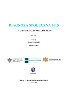 Diagnozy Społecznej 2015