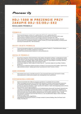 HDJ-1500 W PREZENCIE PRZY ZAKUPIE DDJ-SZ/DDJ-SX2