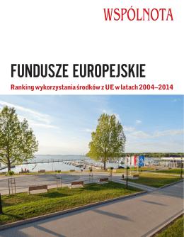 Ranking wykorzystania środków z UE w latach 2004–2014
