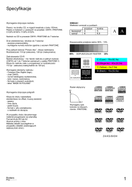 Specyfikacje druku