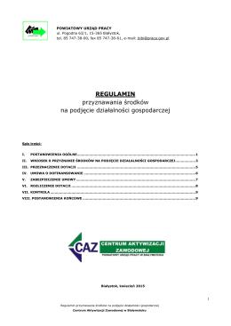 jednorazowe środki na podjęcie działalności gospodarczej 1.4.2015