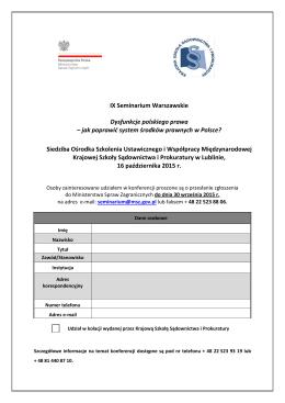 formularz zgłoszeniowy (pdf.) - Ministerstwo Spraw Zagranicznych