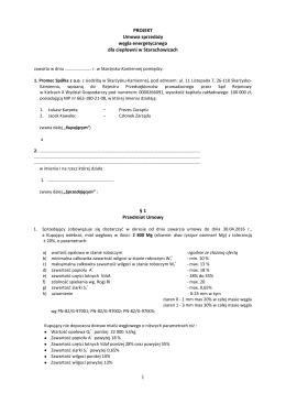 Umowa Roczna kupna-sprzedaży