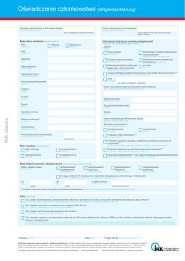 Oświadczenie członkowstwa (Mitgliedserklärung)