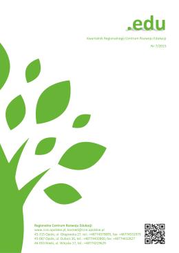 Kwartalnik RCRE .edu nr 7 2015 - Regionalne Centrum Rozwoju