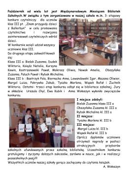Październik od wielu lat jest Międzynarodowym Miesiącem Bibliotek