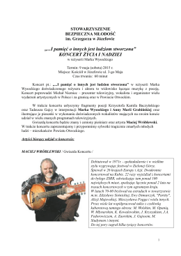 Opis koncertu - plik PDF