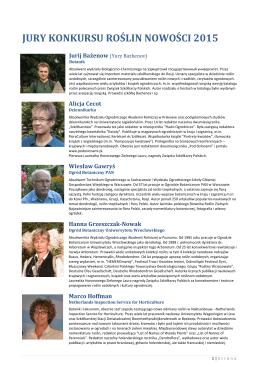 jury konkursu roślin nowości 2015