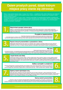 Oto 8 sposobów na zwiększenie higieny w miejscu pracy.