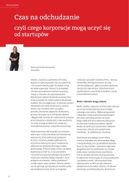 Artykuł Katarzyny Królak-Wyszyńskiej o Lean Startup