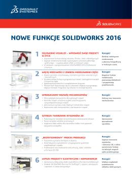 NOWE FUNKCJE SOLIDWORKS 2016