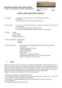 Konspekt lekcji o pielgrzymce_ wersja z wykorzystaniem materiałów
