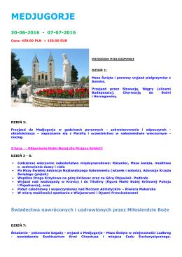Medjugorje-Sanok_30.06_07.07.2016