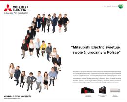 """""""Mitsubishi Electric świętuje swoje 5. urodziny w Polsce"""""""