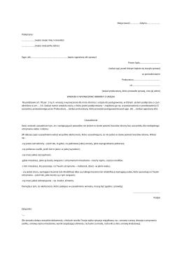 Wniosek o wyznaczenie obrońcy z urzędu w postepowaniu