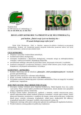 Regulamin Konkursu - Polski Klub Ekologiczny