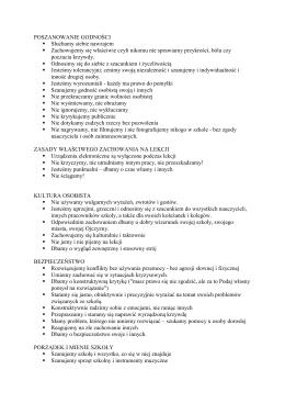 Załącznik - normy wychowawcze