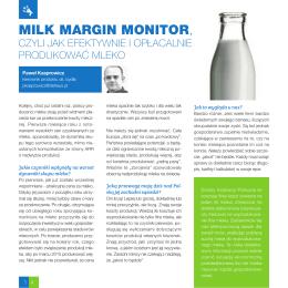 Milk Margin Monitor, czyli jak efektywnie i opłacalnie